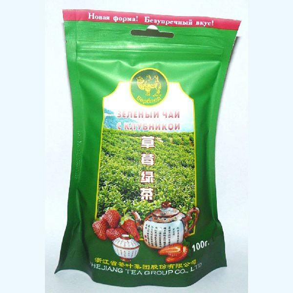 Чай зелёный с клубникой (Верблюд)